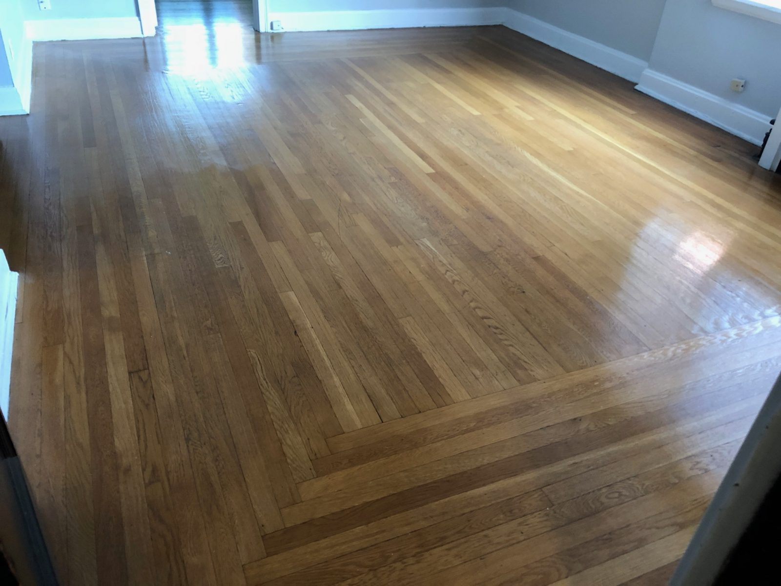 Professional Hardwood Floor Cleaning Maineville Ohio by Howards Cleaning Service