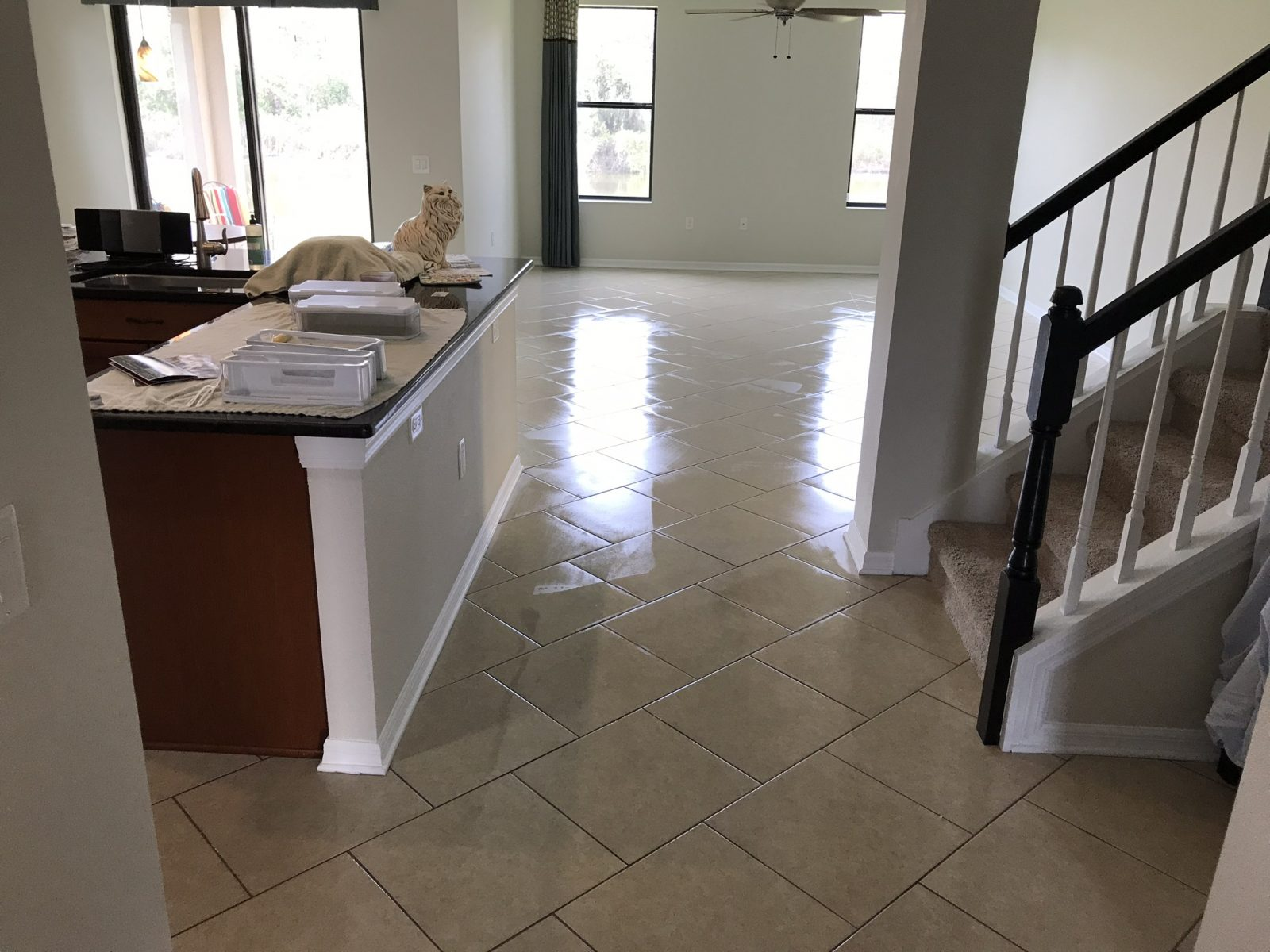 Professional Tile & Grout Cleaning Dunedin Florida by Howards Cleaning Service